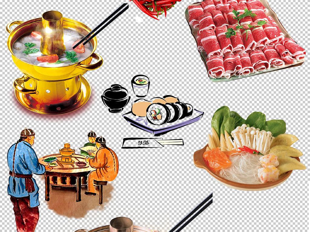 麻辣火锅食材图片海报素材