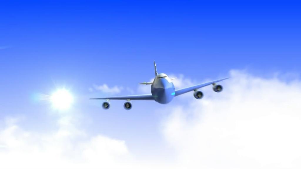飞机logo标志演绎                                  ae模板纸飞机