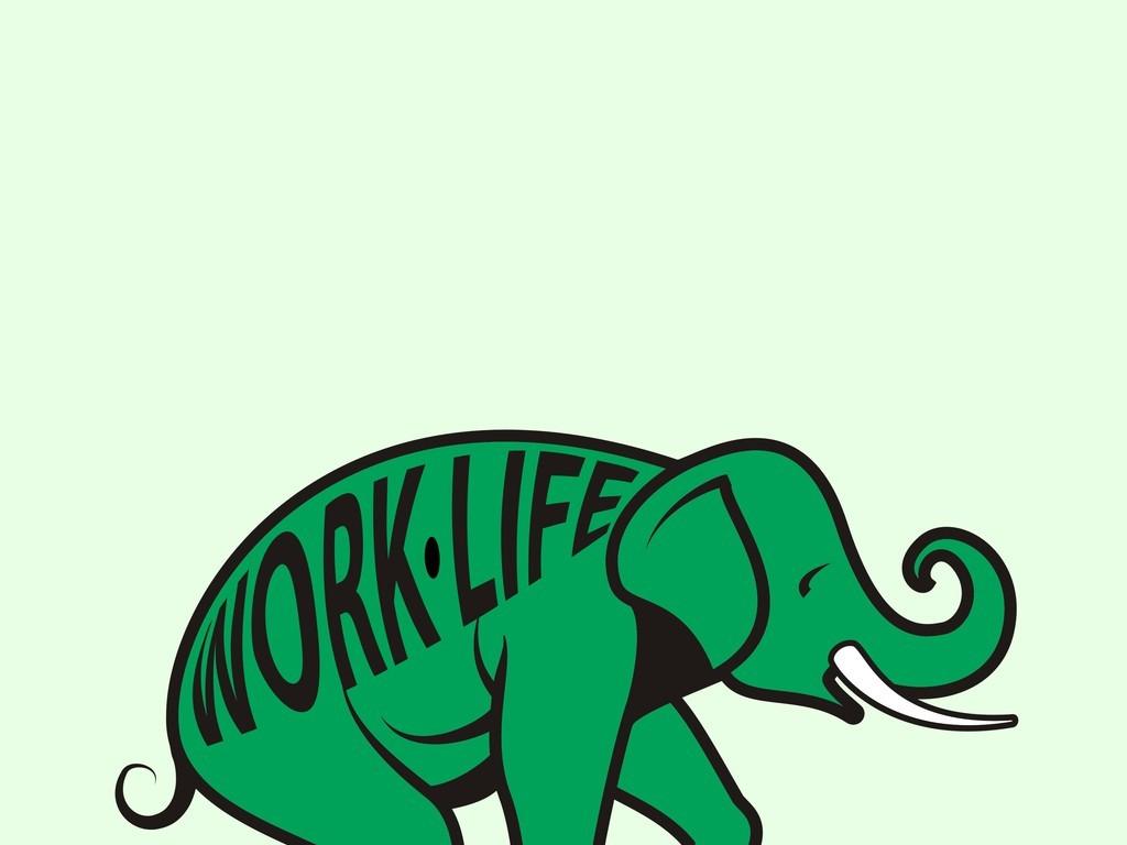 卡通动物大象