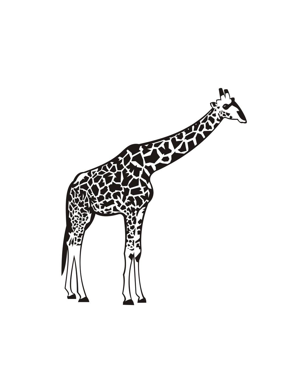 长颈鹿简笔画卡通动物下载_长颈鹿简笔画卡通动物图片