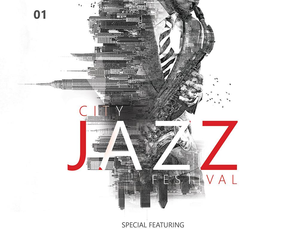 国外创意爵士乐音乐节海报设计