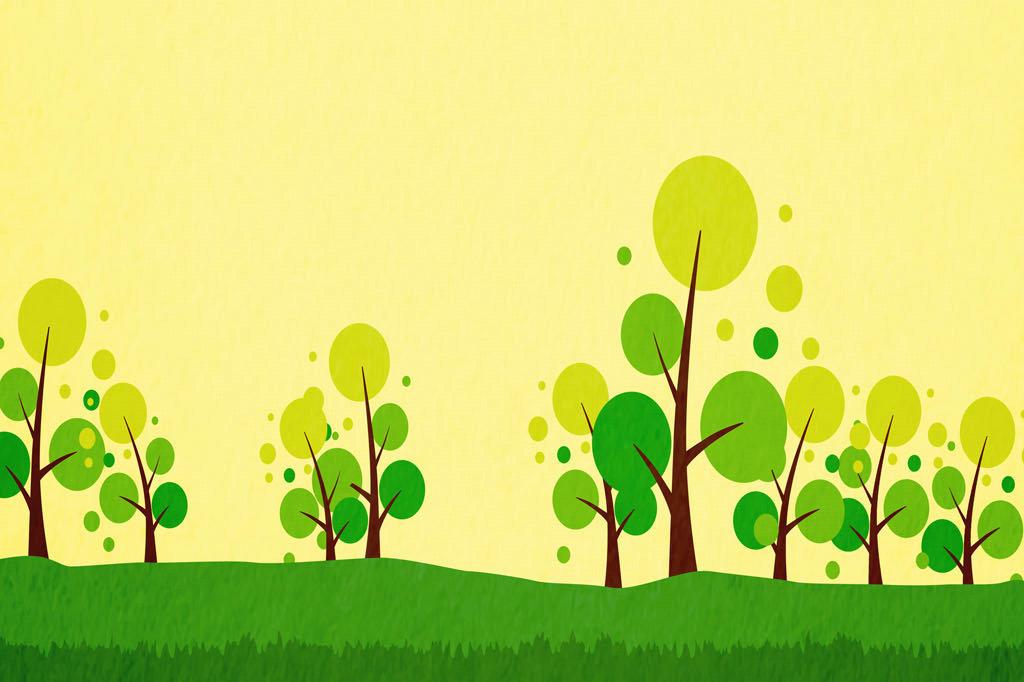 废纸箱手工制作有绿树的 房子
