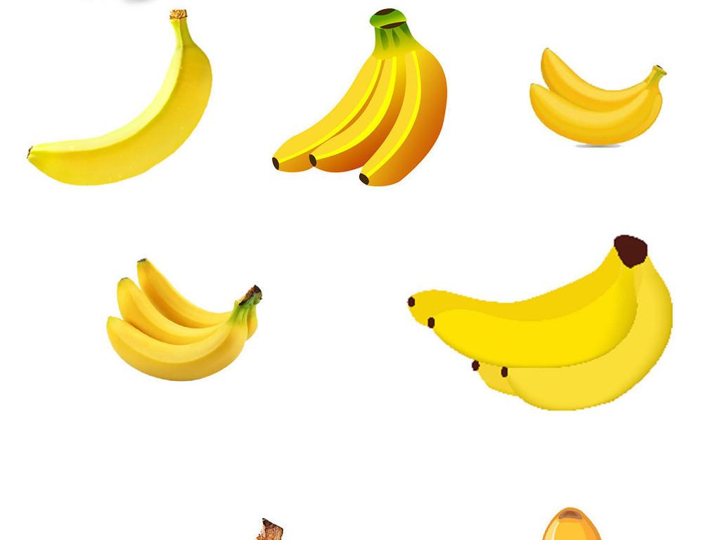 卡通香蕉免抠png透明素材