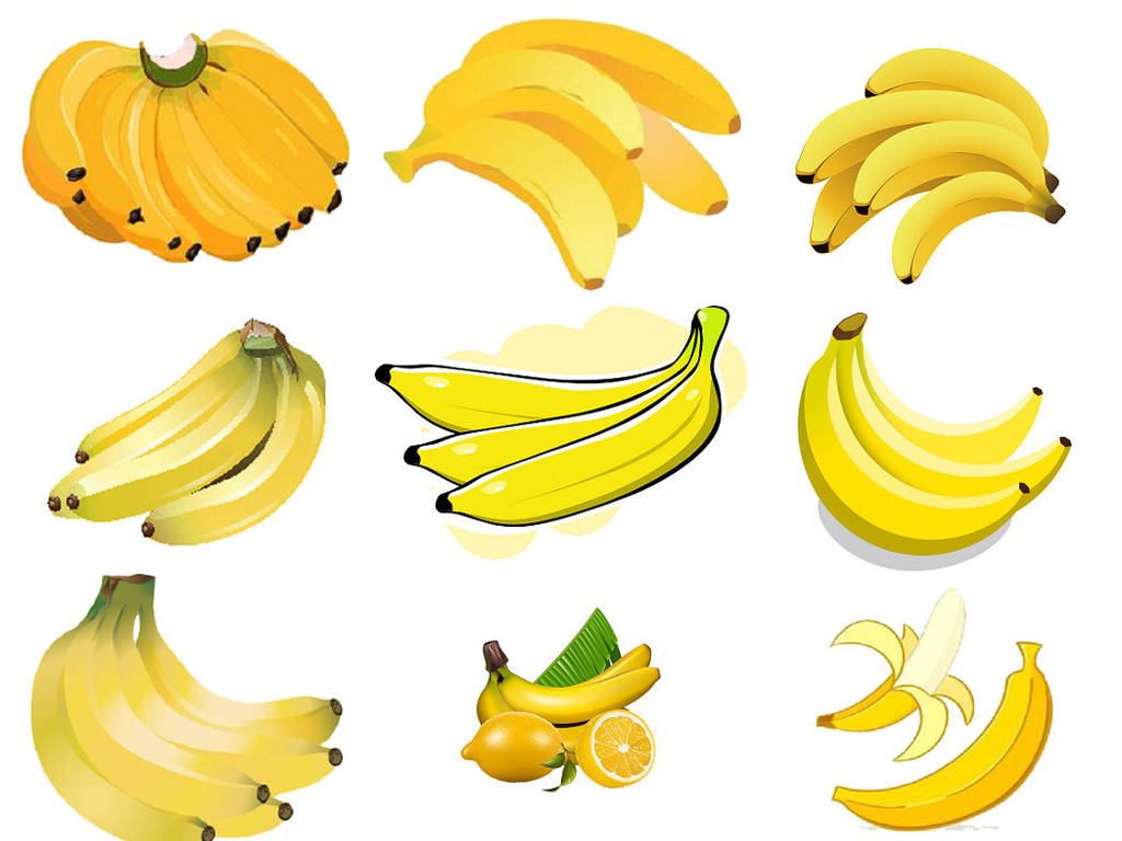 png免抠卡通香蕉海报设计素材