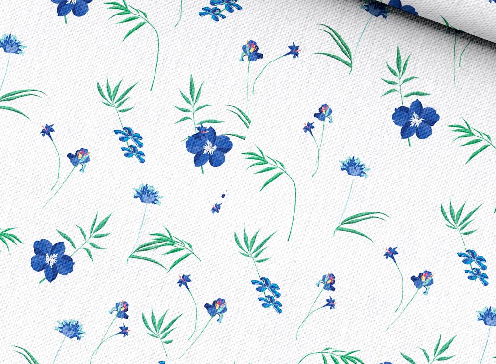 小清新植物花卉面料印花图案设计