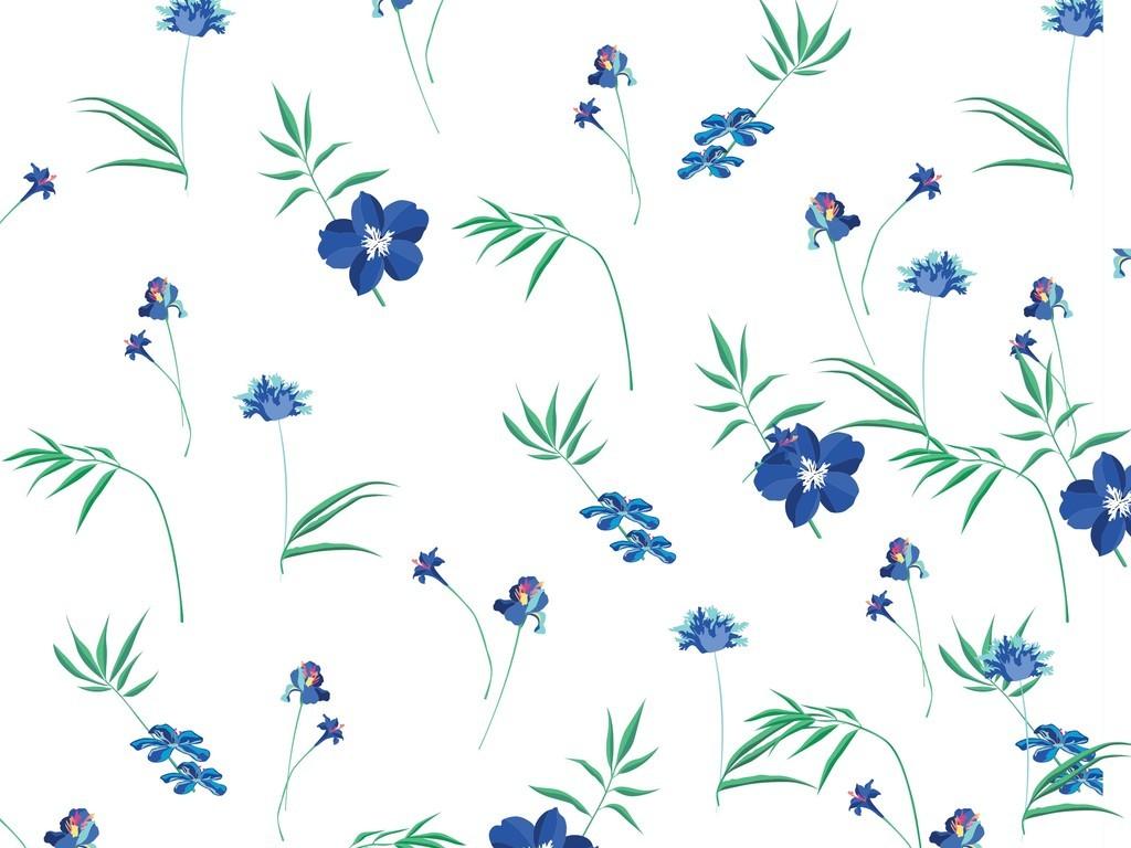 小清新植物花卉抱枕图案