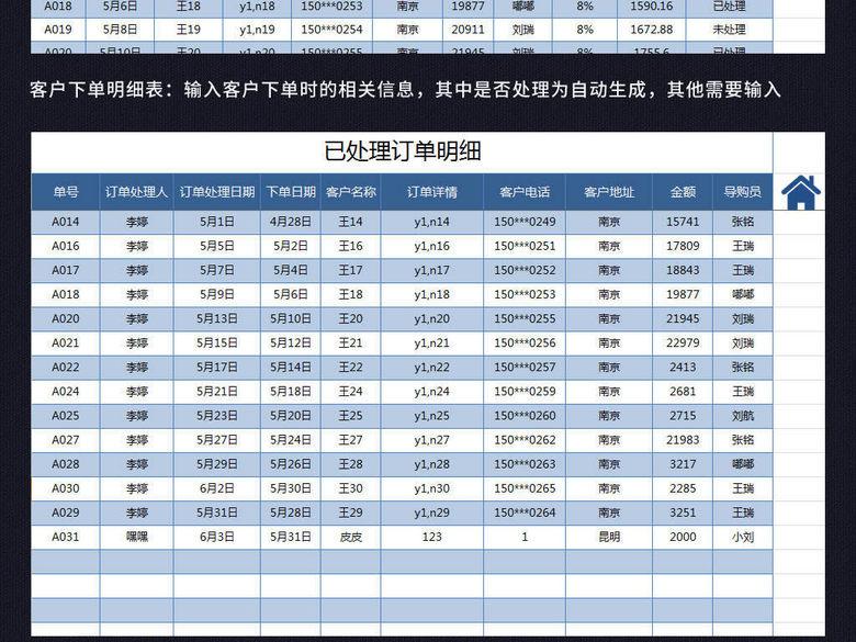 员工销售订单管理提成工资统计查询系统表格(