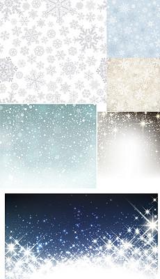 雪花矢量图背景小清新背景下雪窗花冬天素材