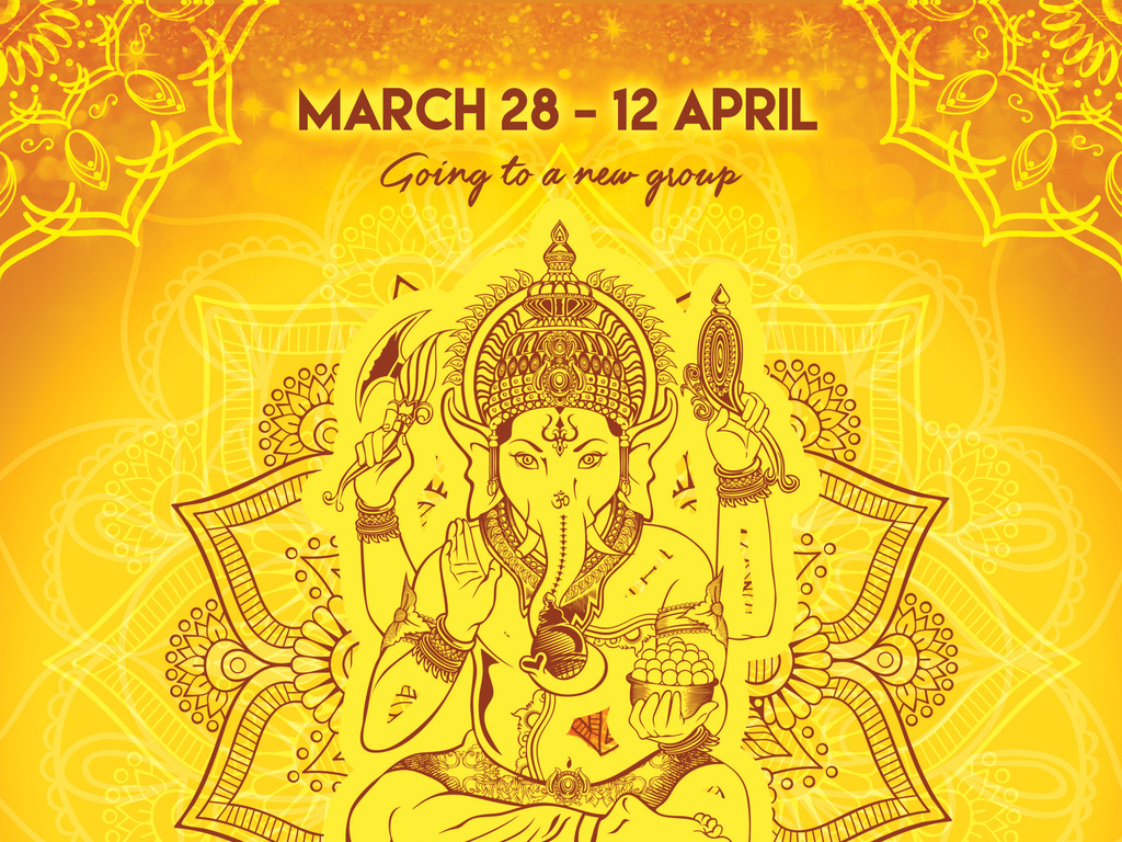 手绘唯美健身房瑜伽馆印度瑜伽招生宣传海报