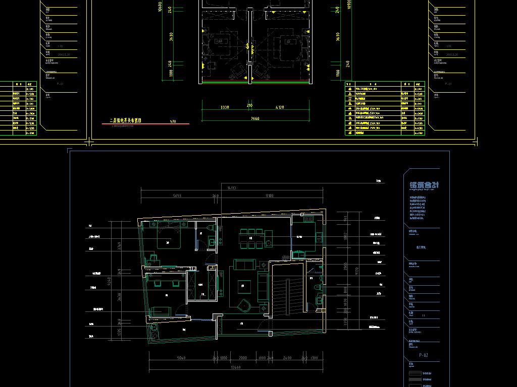 别墅CAD室内装修图