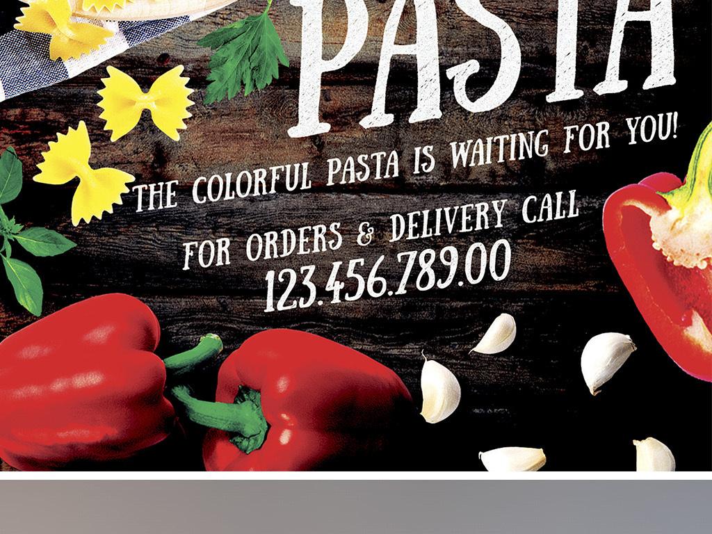 平面|广告设计 海报设计 国外创意海报 > 高档意式餐厅餐饮美食意大利