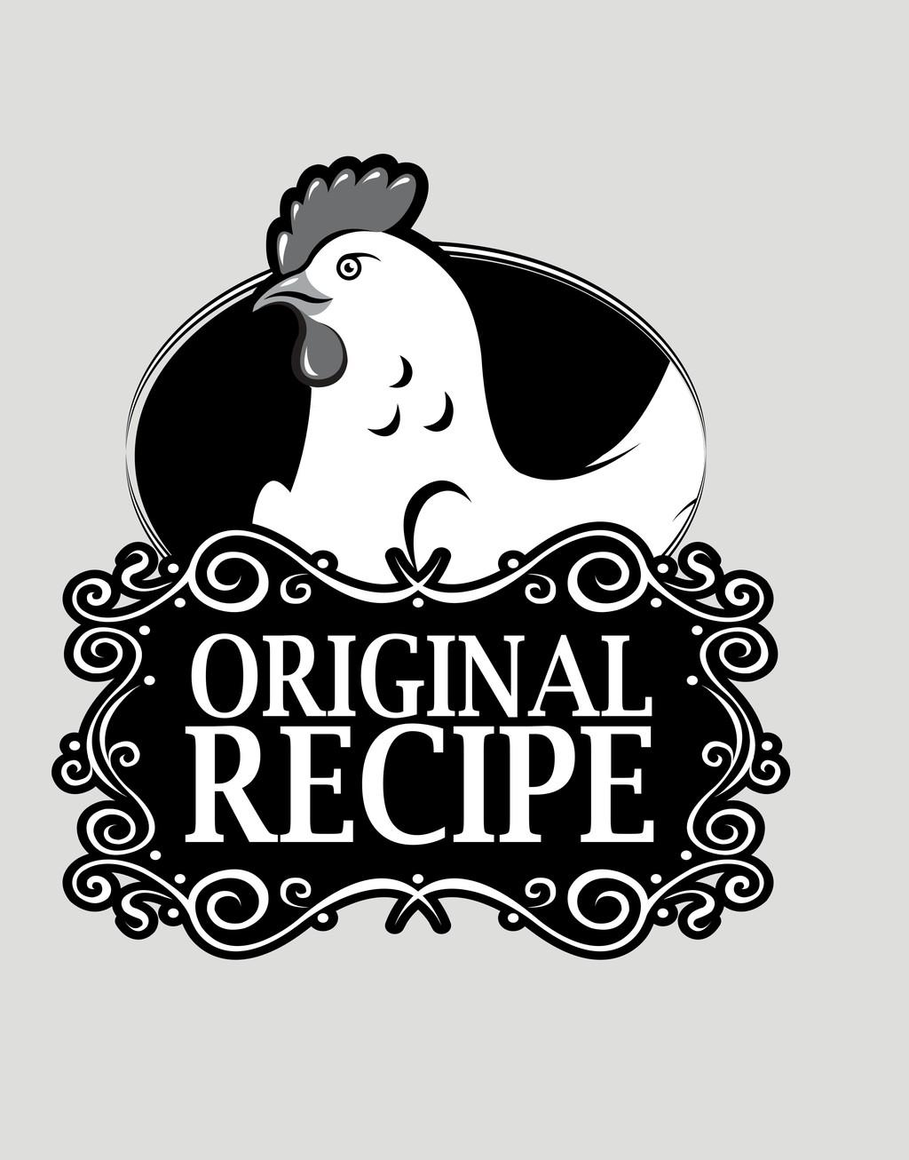 手绘动物简笔插画卡通动物鸡标识牌