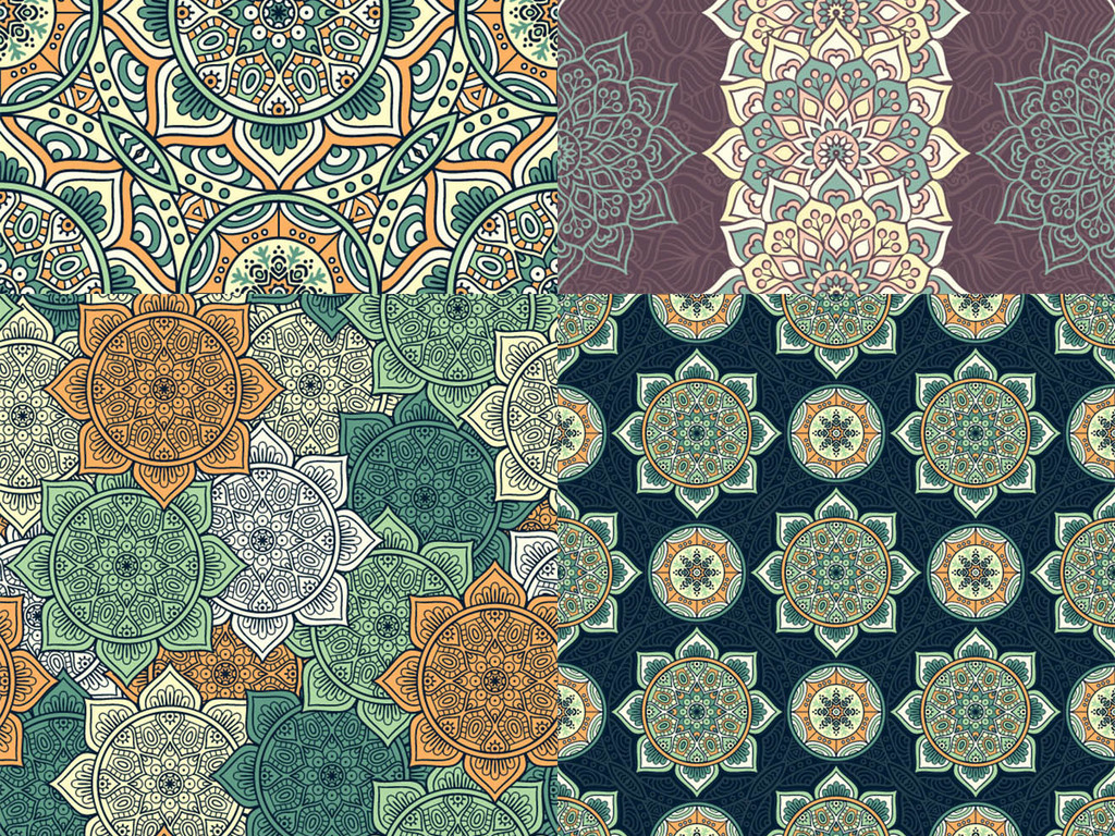 欧式复古古典花纹设计图案背景图