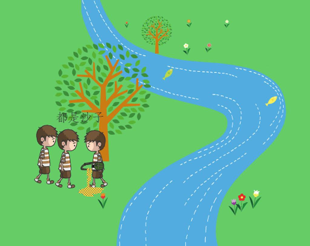 卡通人物走路动画