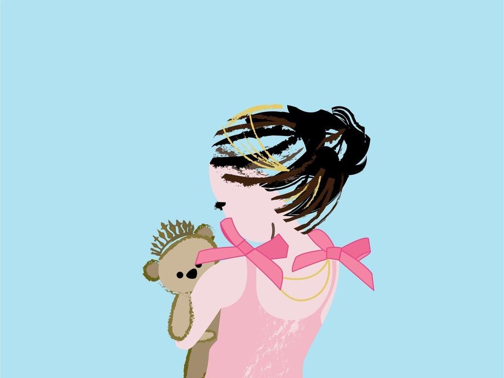卡通人物插画宠物图案彩绘儿童画ai源文件图片