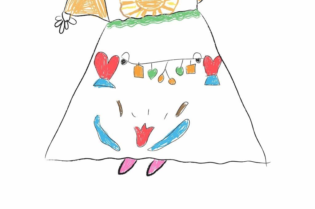 卡通人物形象ai皇冠ai彩绘儿童画素材卡通女孩