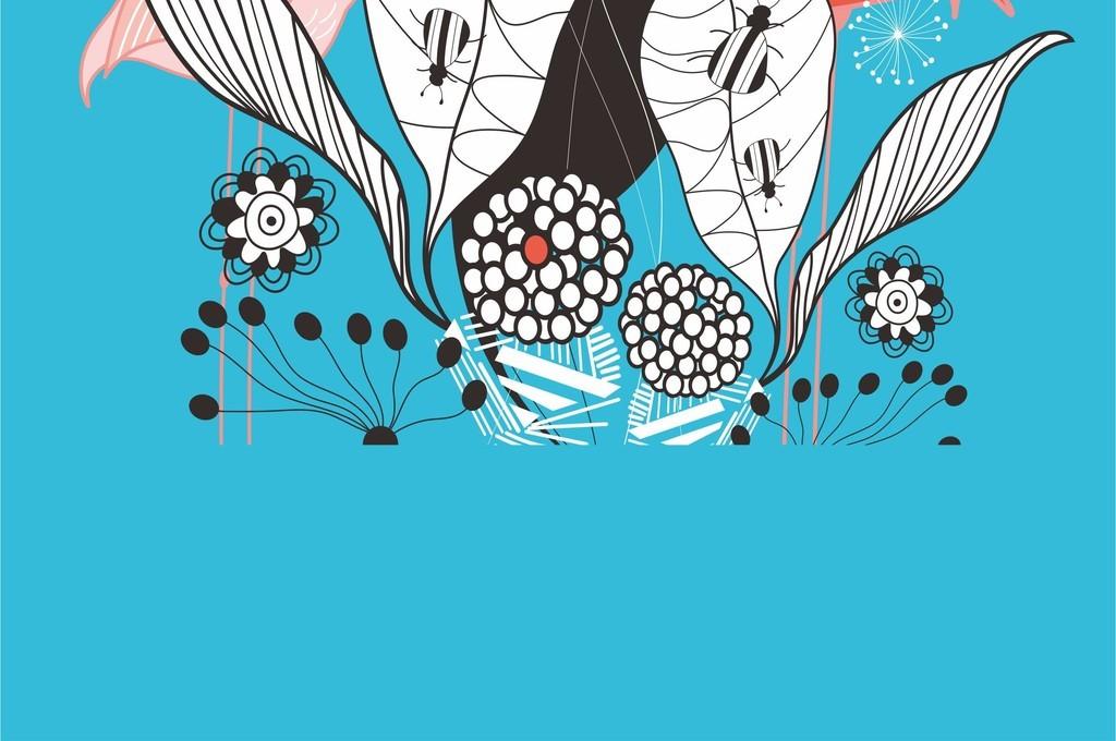 画卡通动物印花图案                                  植物植物花卉