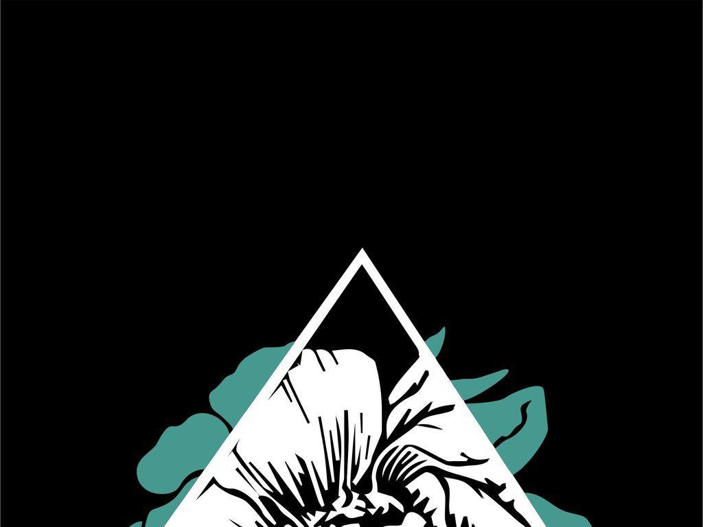 植物花卉手绘花卉潮牌男装印花图案(图片编号:)_卡通