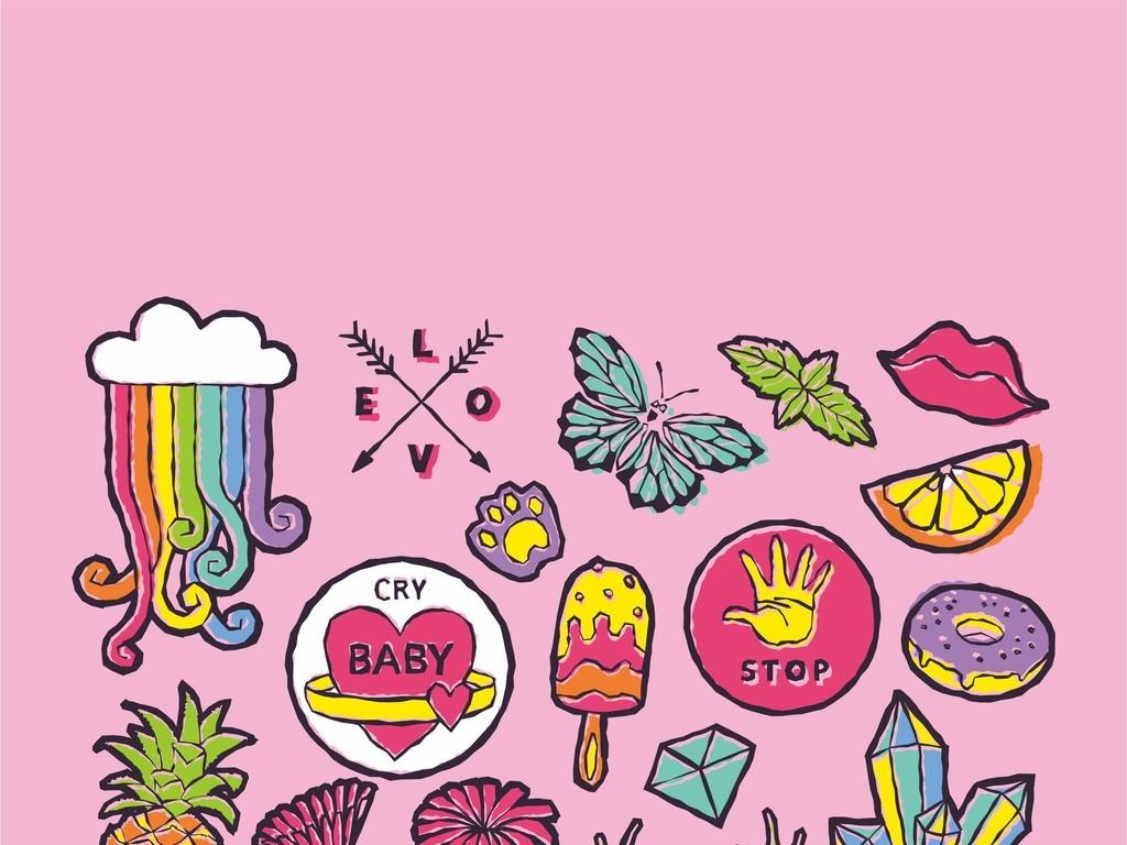 我图网提供精品流行卡通动物兔子美食世界食物水果动物图案蝴蝶素材下载,作品模板源文件可以编辑替换,设计作品简介: 卡通动物兔子美食世界食物水果动物图案蝴蝶 矢量图, RGB格式高清大图,使用软件为 Illustrator CS3(.ai) 童装包包印花图案 童装设计花型
