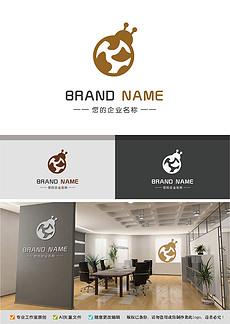 可爱甲壳虫logo奶牛纹路品牌标志设计