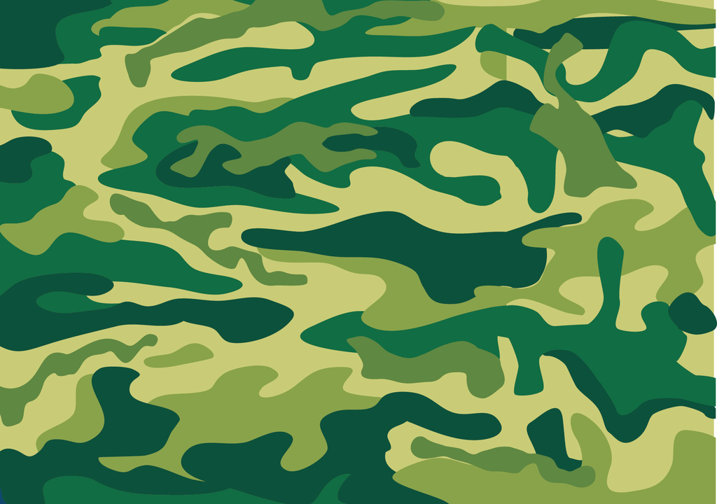 q版迷彩军人手绘