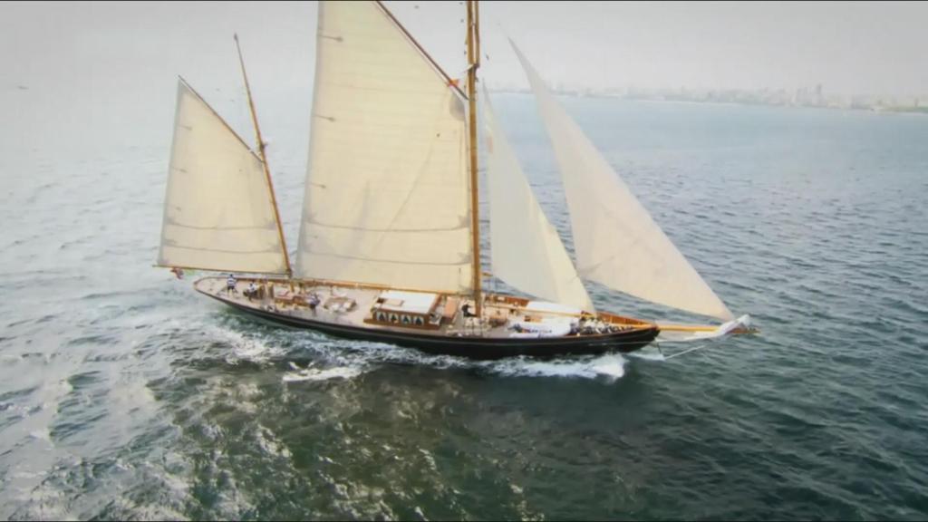 慷慨激昂乘风破浪扬帆起航背景视频