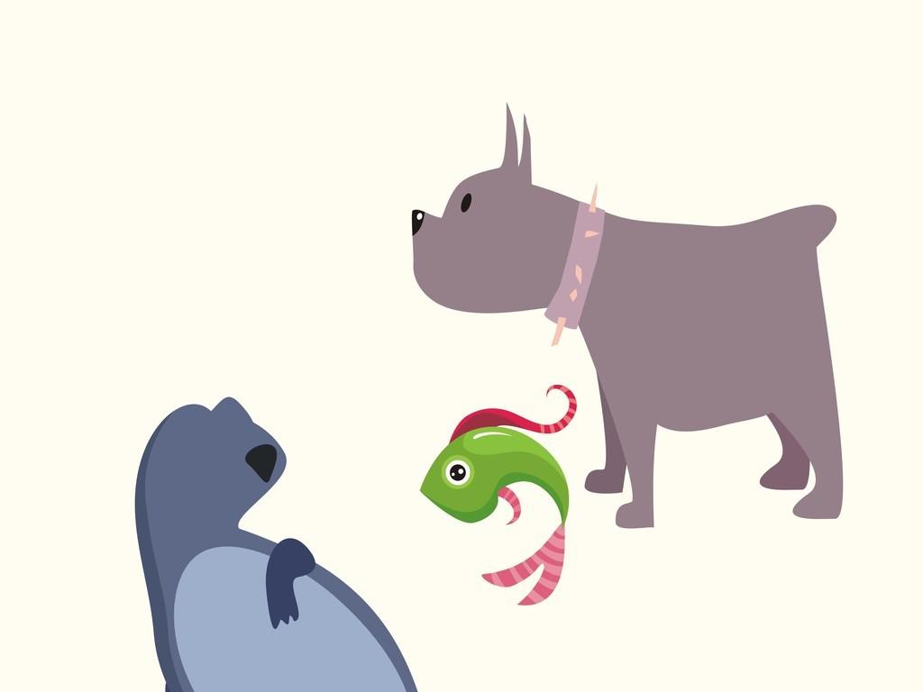 卡通动物矢量图狗鱼(图片编号:16230222)_动物_我图网