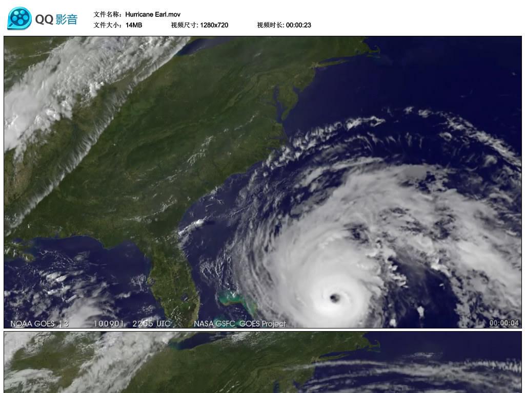 飓风卫星云图天气预报气候自然灾害高清视频图片