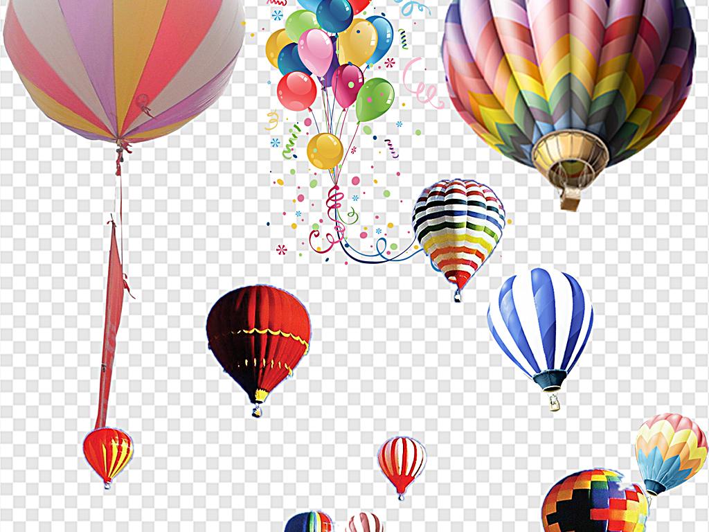 热气球卡通热气球手绘热气球扁平热气球