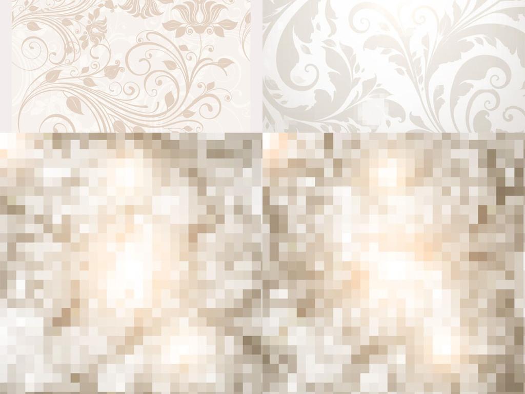 欧式古典花纹矢量墙纸
