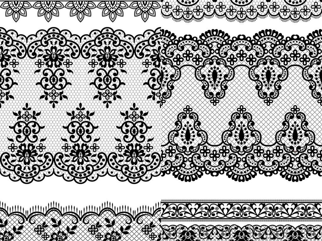 欧式黑白花纹背景(图片编号:16234054)