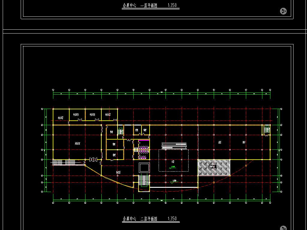 三层会展中心cad设计图