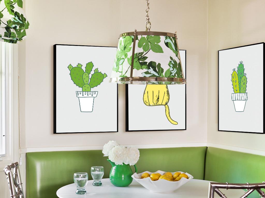 手绘小清新植物壁纸