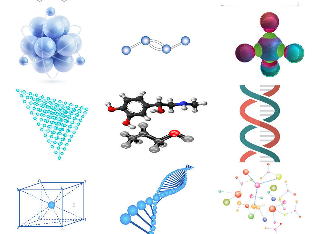 化学分子化学结构ps设计元素1