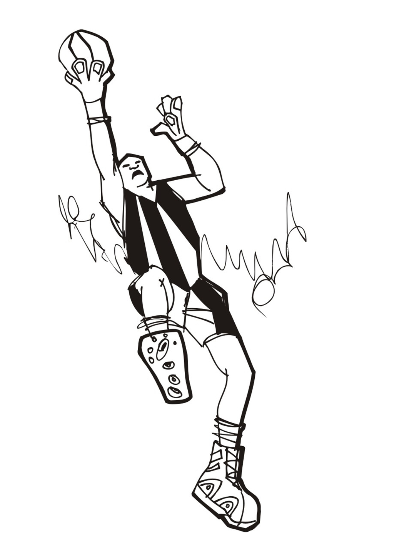 人物矢量图T恤图案设计篮球运动员简笔画