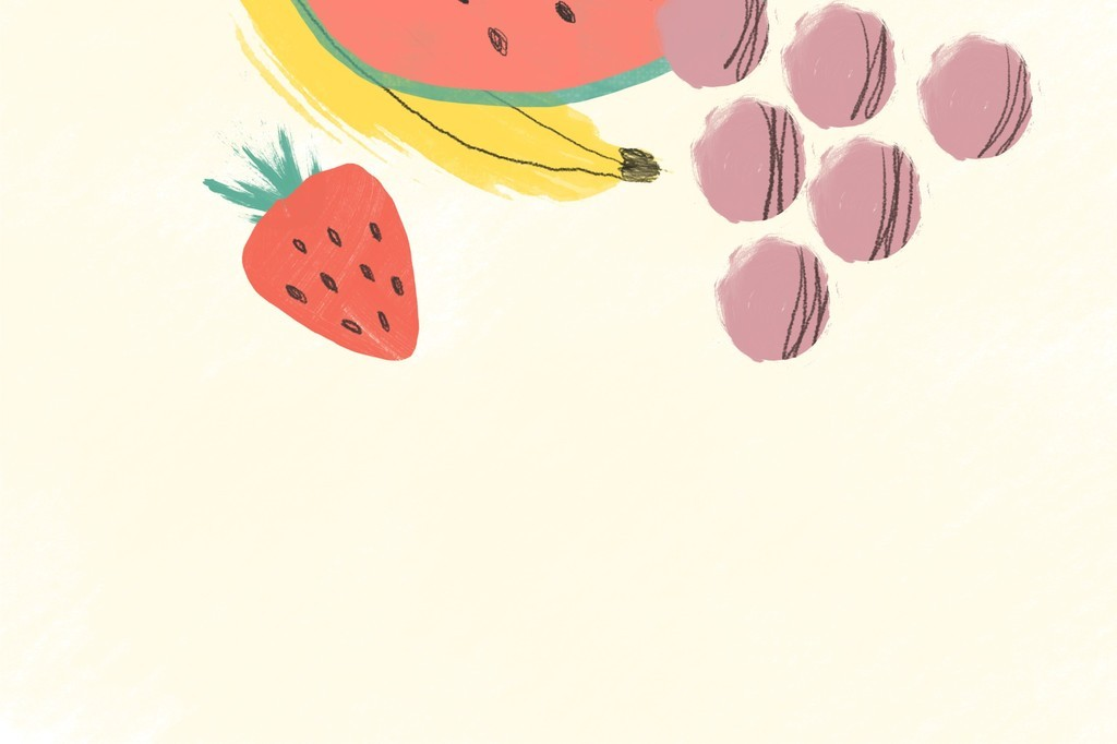 手绘水果插画生活元素