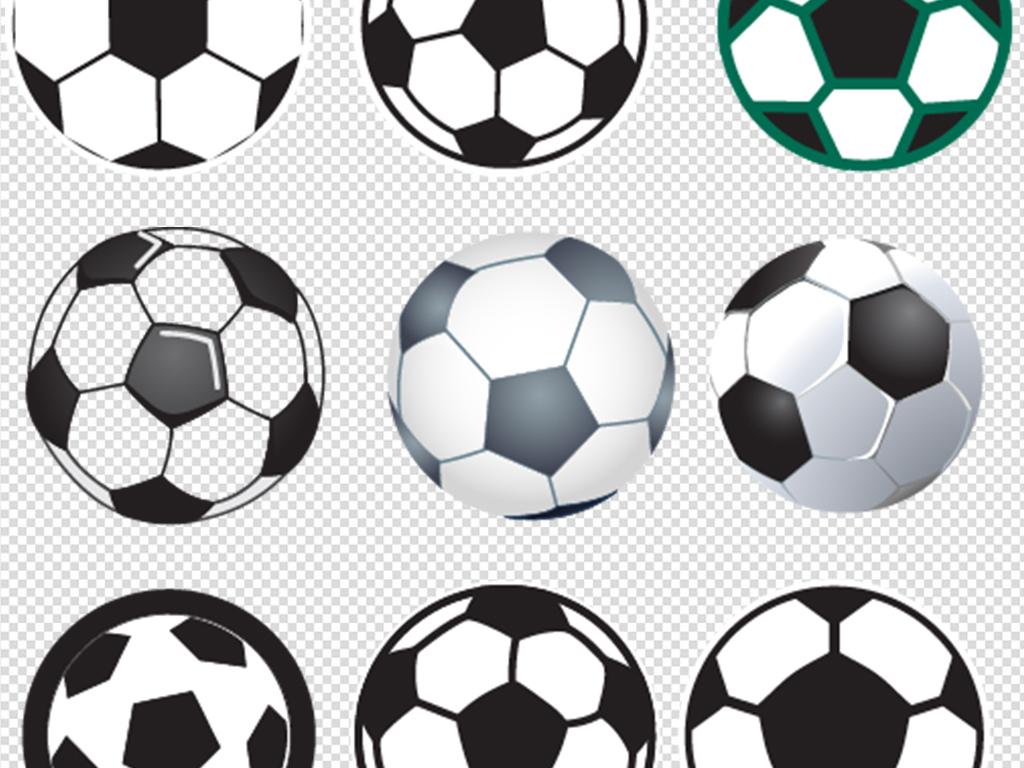 手绘免抠足球素材集合
