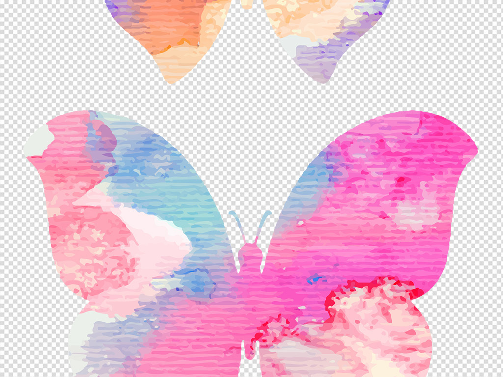彩色素材创意蝴蝶手绘日韩盛典手绘pop手绘pop字手绘海报手绘效果图