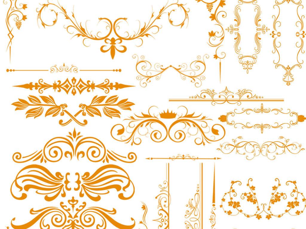 复古植物花纹建筑花纹手绘花纹传统花纹时尚花纹设计psd欧式尊贵华丽