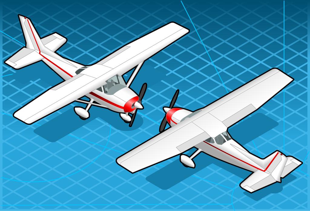 矢量图飞机白色水上飞机救援机