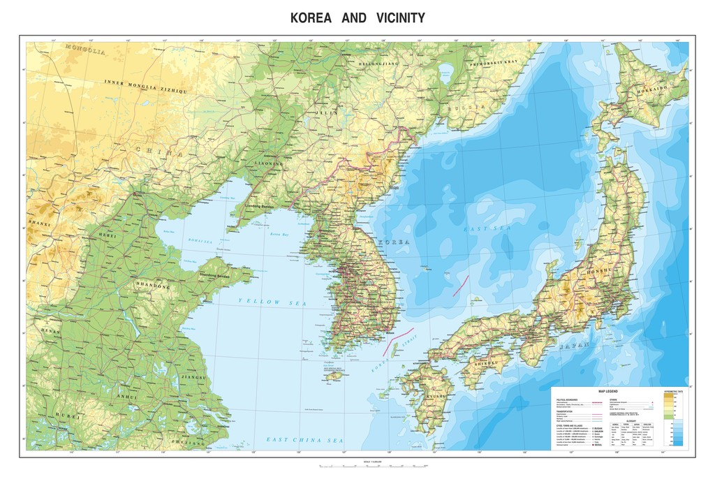 朝鲜韩国日本高清地图