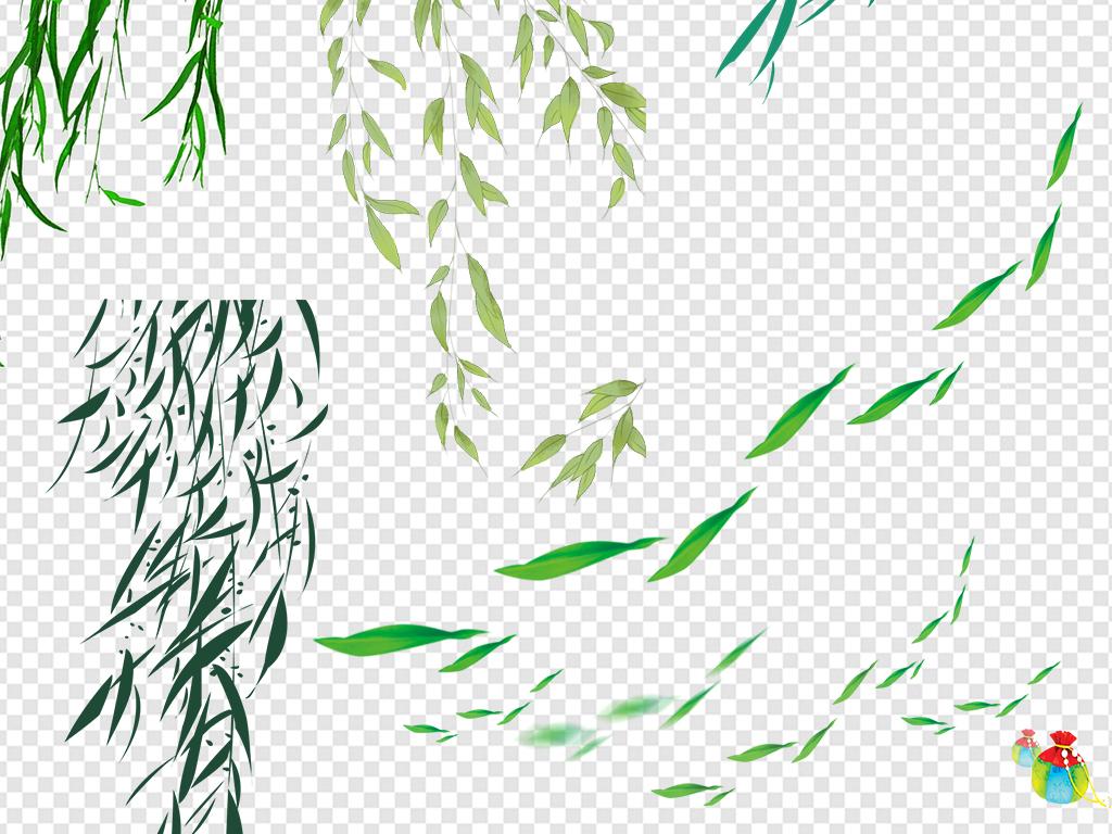 柳叶柳树春季夏季海报素材图片下载png素材 其他图片