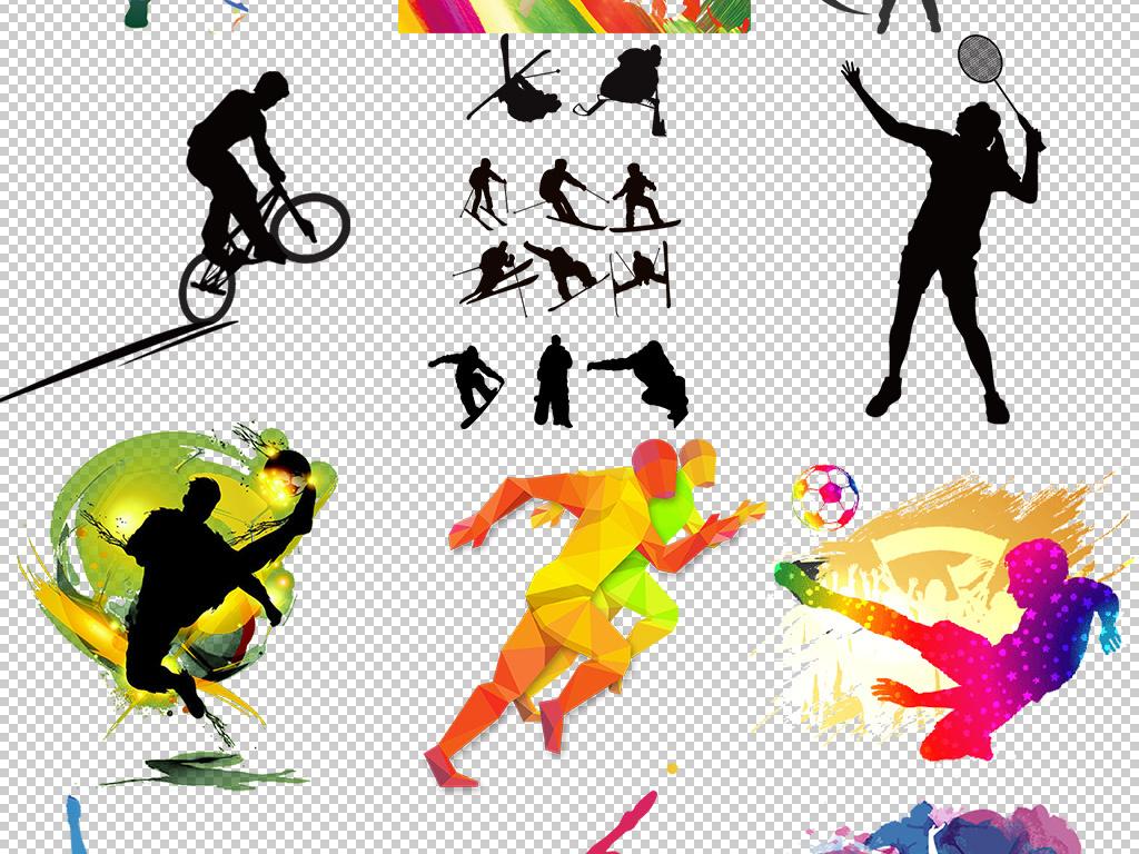 手绘人物冲刺人物人物剪影剪影体育运动元素体育运动人物元素设计人物