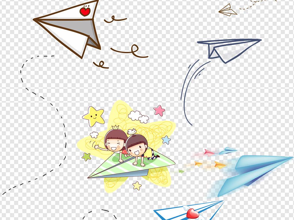 卡通纸飞机童趣素材