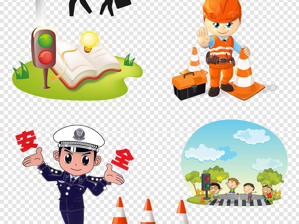 交通安全漫画红绿灯交通警察素材图片下载png素材 其他