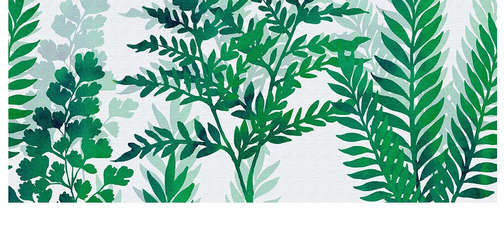 北欧小清新植物床头沙发背景装饰画