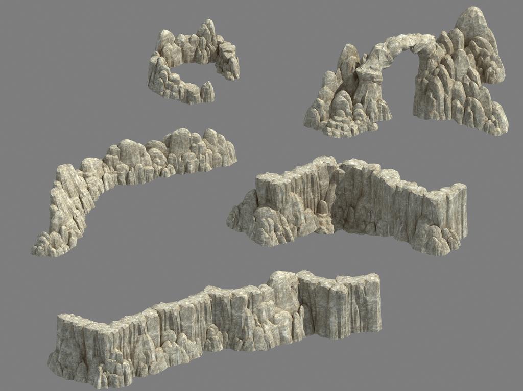 3d手绘石头材质贴图
