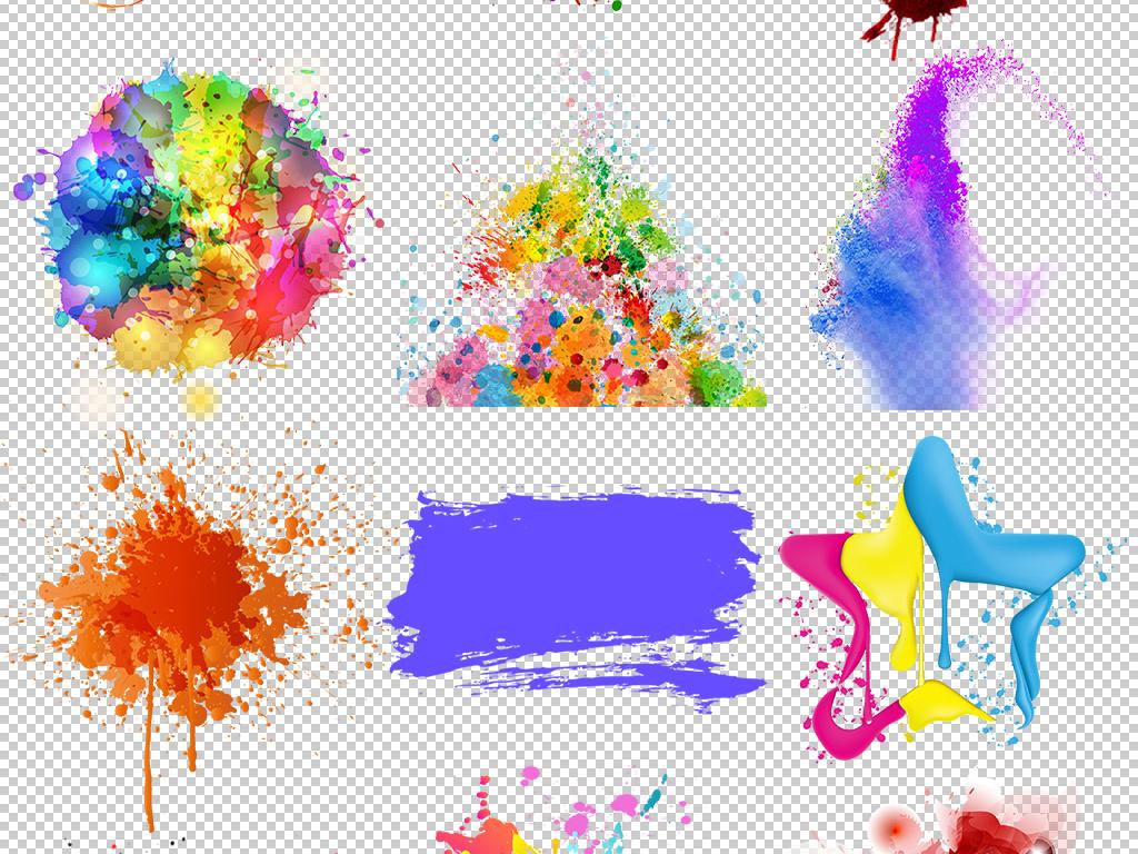 贴纸印章图案一撇油漆桶油漆背景创意设计墨迹喷绘