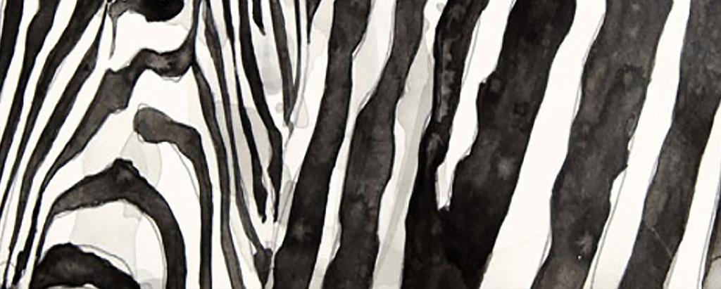 黑白老虎犀牛装饰画动物装饰画