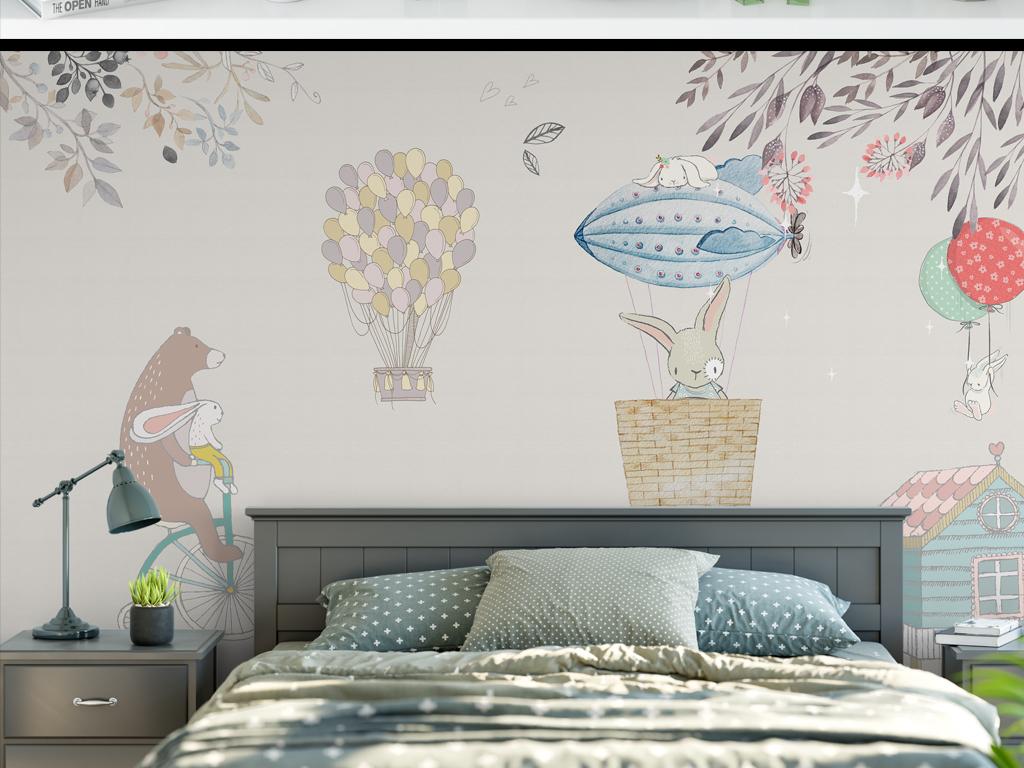 背景墙|装饰画 电视背景墙 手绘电视背景墙 > 简约水彩花卉森系小清新